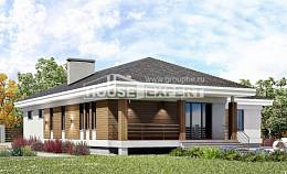 165-001-R One Story House Plans with garage, cozy Plans To Build