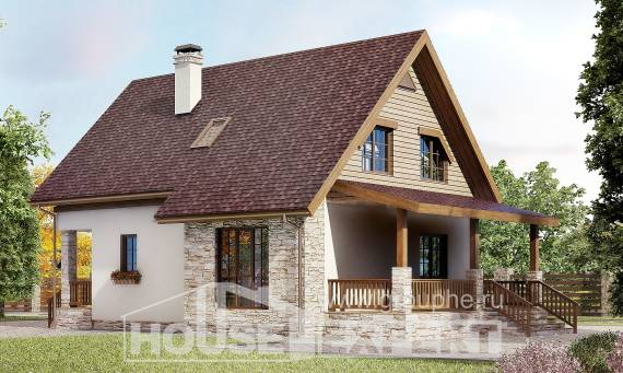140-001-R Two Story House Plans with mansard roof, the budget Construction Plans
