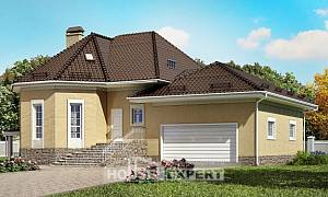 400-001-R Three Story House Plans with mansard roof and garage, cozy Villa Plan