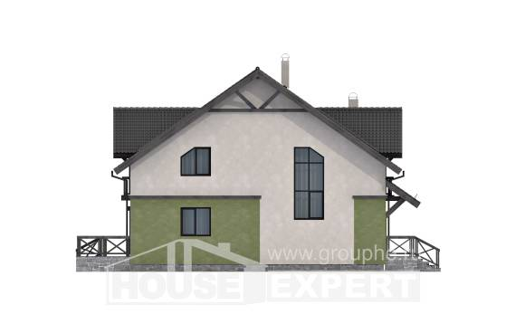 120-003-R Two Story House Plans, modern Timber Frame Houses Plans