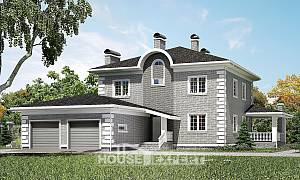 245-004-L Two Story House Plans with garage in front, cozy Drawing House