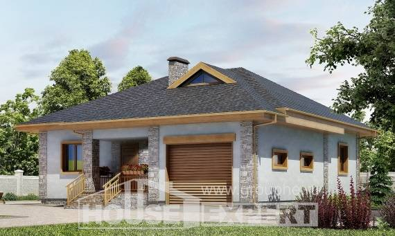 130-006-R One Story House Plans with garage in front, beautiful Building Plan