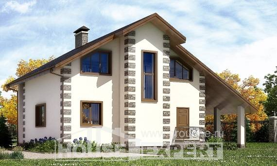 150-003-L Two Story House Plans and mansard with garage in back, available Design House