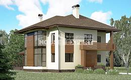 300-001-R Two Story House Plans, spacious Drawing House