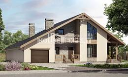 265-001-L Two Story House Plans with mansard with garage in back, cozy Villa Plan
