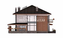 305-001-R Two Story House Plans with garage in back, cozy Design House