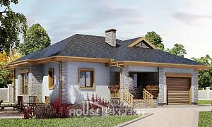 130-006-R One Story House Plans with garage in front, compact Plans To Build