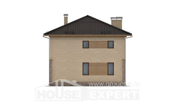 170-005-L Two Story House Plans, modern Architects House