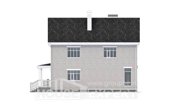 190-001-L Two Story House Plans with garage in back, a simple Plans Free