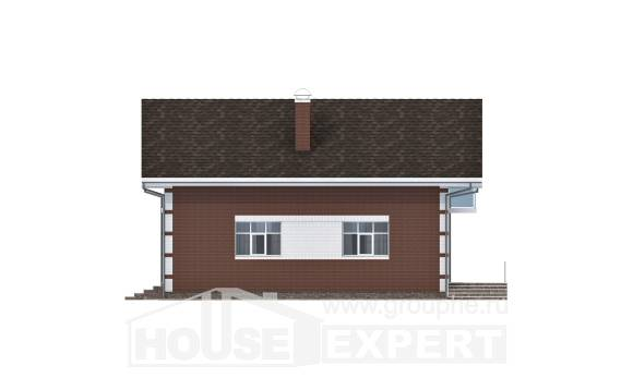180-001-L Two Story House Plans with mansard with garage, modest Architectural Plans