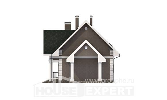 140-003-R Two Story House Plans and mansard with garage in front, beautiful Construction Plans