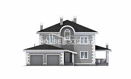 245-004-L Two Story House Plans with garage in front, cozy Dream Plan