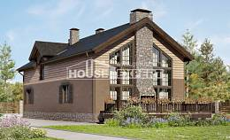 240-002-R Two Story House Plans with mansard with garage in back, spacious House Planes