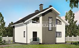 150-005-L Two Story House Plans and mansard, modern Plans Free