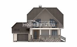 150-001-L Two Story House Plans with mansard roof with garage in back, small Online Floor