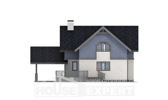 150-011-R Two Story House Plans and mansard with garage under, best house Cottages Plans