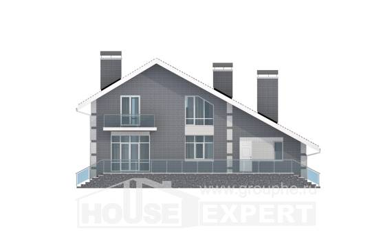 190-006-L Two Story House Plans with mansard roof and garage, best house Timber Frame Houses Plans