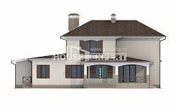 285-002-R Two Story House Plans and garage, cozy Architects House