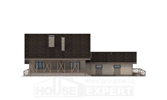 265-001-L Two Story House Plans with mansard with garage in front, classic Home House