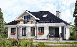150-008-R Two Story House Plans and mansard, the budget Villa Plan