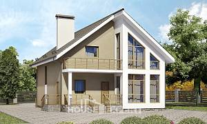 170-006-L Two Story House Plans with mansard, a simple Online Floor