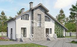 180-017-L Two Story House Plans with mansard roof with garage in front, best house Ranch,