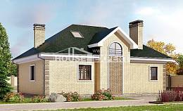 150-013-L Two Story House Plans with mansard, classic Cottages Plans