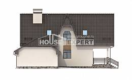 150-001-L Two Story House Plans with mansard roof with garage in back, beautiful Design House