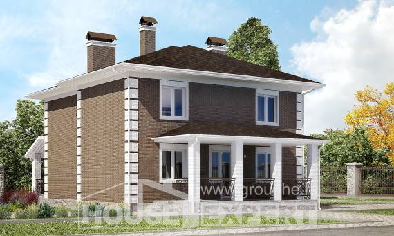 185-002-R Two Story House Plans, a simple Online Floor