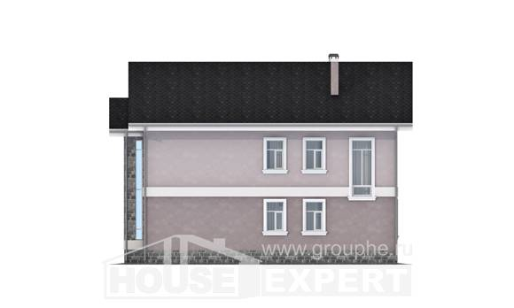 170-008-R Two Story House Plans, a simple Plan Online