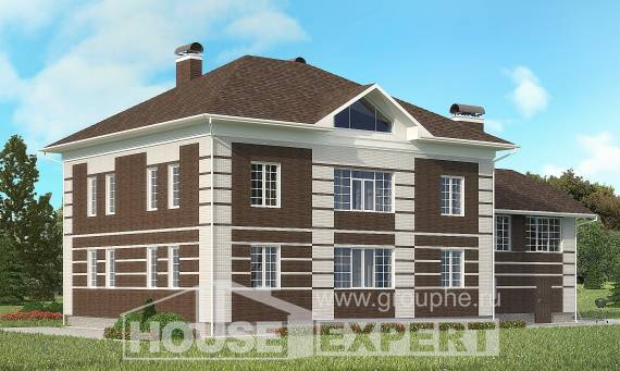 505-002-L Three Story House Plans with garage, modern Tiny House Plans