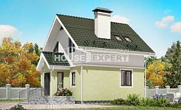 070-001-R Two Story House Plans with mansard, beautiful Models Plans