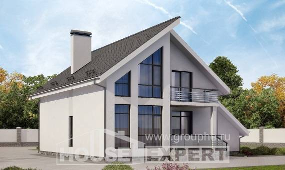 200-007-L Two Story House Plans and mansard with garage under, luxury Online Floor