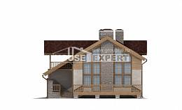 165-002-R Two Story House Plans with garage in back, inexpensive Plans To Build