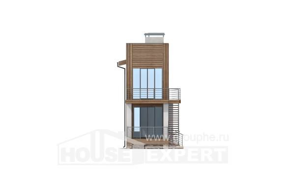 100-003-L Two Story House Plans, compact Architects House