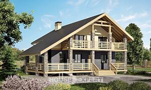 160-010-R Two Story House Plans and mansard, compact Tiny House Plans