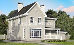 190-001-L Two Story House Plans with garage, a simple Drawing House
