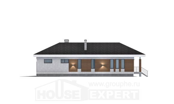 165-001-R One Story House Plans with garage in back, best house Villa Plan
