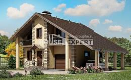 150-003-R Two Story House Plans with garage under, cozy Models Plans
