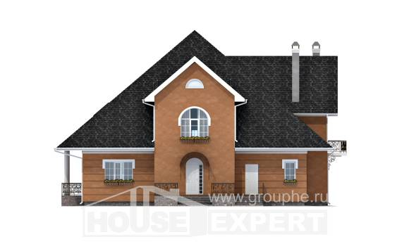 310-001-R Two Story House Plans with mansard roof, best house Floor Plan