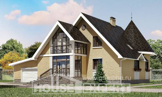 250-001-L Two Story House Plans with mansard roof with garage in back, luxury Online Floor