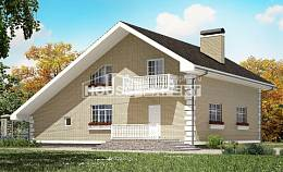 190-005-R Two Story House Plans and mansard with garage, beautiful House Plan