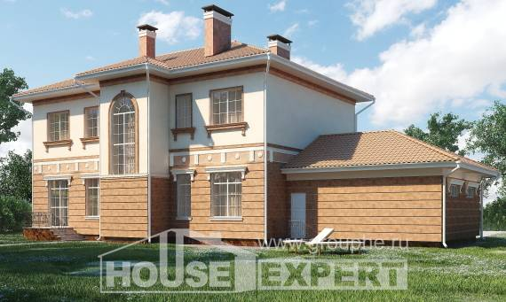 285-001-L Two Story House Plans with garage in front, modern House Blueprints