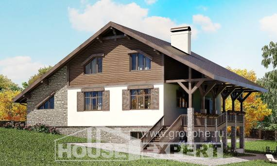 300-003-R Three Story House Plans and mansard with garage in back, big Blueprints of House Plans