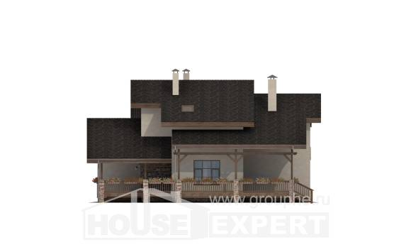 240-003-L Two Story House Plans and mansard, luxury Floor Plan