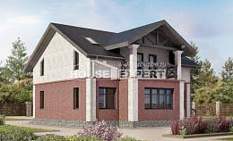 160-014-L Two Story House Plans, compact Home House