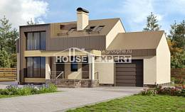 150-015-L Two Story House Plans with mansard with garage in back, modern Dream Plan