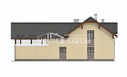 255-003-R Two Story House Plans and mansard with garage in front, best house House Blueprints