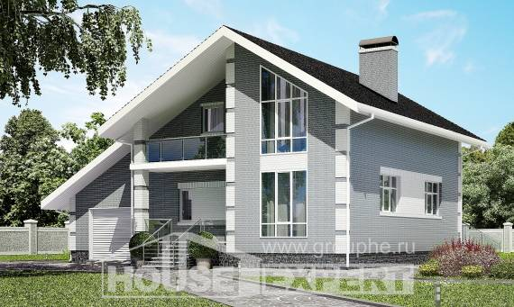 190-006-L Two Story House Plans with mansard roof with garage in back, modern Plans Free