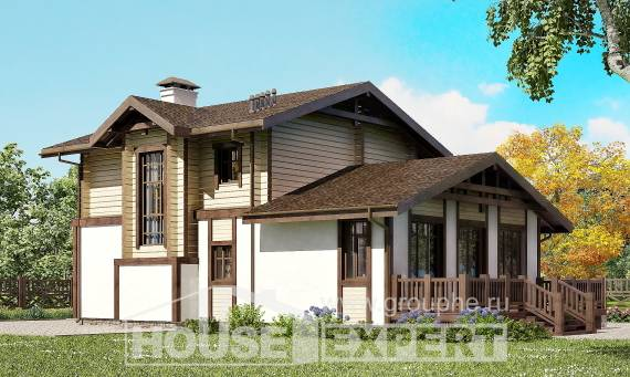 190-004-R Two Story House Plans with mansard roof and garage, classic House Plans